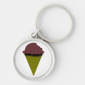 Porte-clés Porte - clé de crème glacée de chocolat