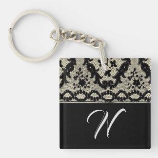 Porte-clés Porte - clé de dentelle de monogramme