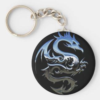 Porte-clés Porte - clé de dragon de chrome