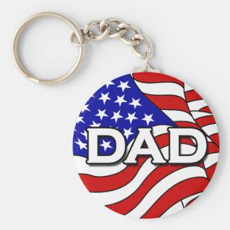 Porte-clés Porte - clé de drapeau américain et de papa