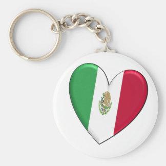 Porte-clés Porte - clé de drapeau de coeur du Mexique