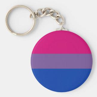 Porte-clés Porte - clé de drapeau de fierté de Bi (classique)