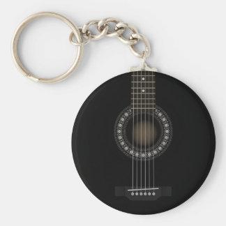 Porte-clés Porte - clé de drapeau de guitare acoustique
