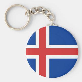 Porte-clés Porte - clé de drapeau de l'Islande