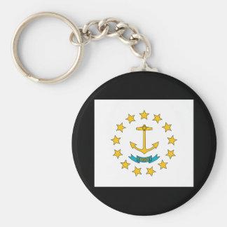Porte-clés Porte - clé de drapeau d'état d'Île de Rhode