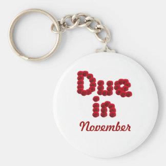 Porte-clés Porte - clé de dû en novembre