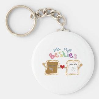 Porte-clés porte - clé de duvet de beurre d'arachide de