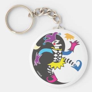 Porte-clés Porte - clé de farceur de yinyang de danse