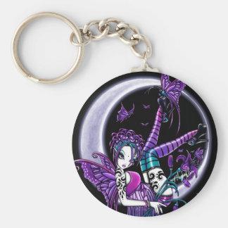 Porte-clés Porte - clé de fée de lune de papillon de Paige