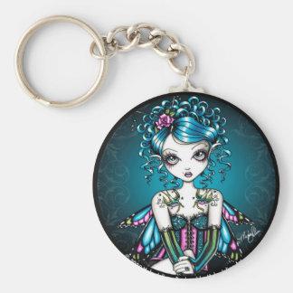 Porte-clés Porte - clé de fée de tatouage d'hirondelle de
