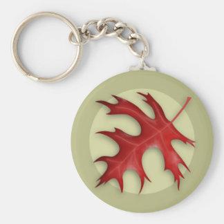 Porte-clés Porte - clé de feuille de chêne de Pin d'automne