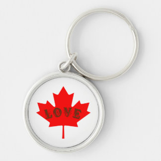 Porte-clés porte - clé de feuille d'érable rouge de jour du