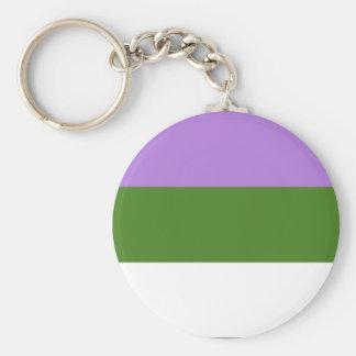 Porte-clés Porte - clé de fierté de Genderqueer