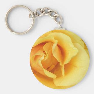 Porte-clés Porte - clé de fleur de rose jaune