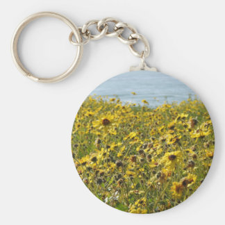 Porte-clés Porte - clé de fleurs sauvages de la Californie