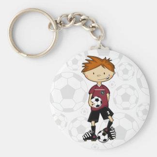 Porte-clés Porte - clé de garçon du football