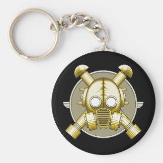 Porte-clés Porte - clé de Gasmask d'art déco