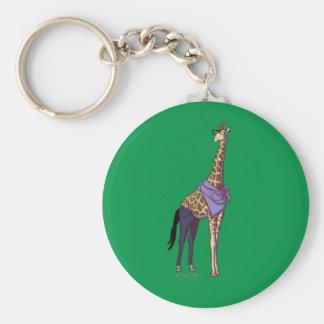Porte-clés Porte - clé de girafe de hippie (sans texte)