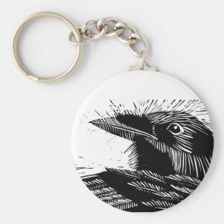 Porte-clés Porte - clé de gravure sur bois en Raven