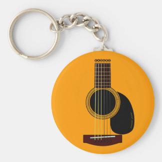 Porte-clés porte - clé de guitare acoustique