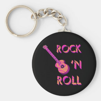 Porte-clés Porte - clé de guitare acoustique de rock