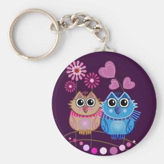 Porte-clés Porte - clé de hibou avec des couples de hibou