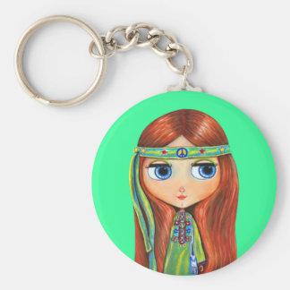 Porte-clés Porte - clé de hippie de paix