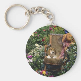 Porte-clés Porte - clé de jardin de beagle