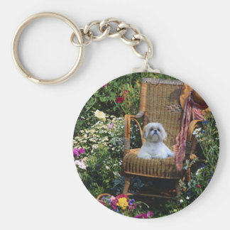 Porte-clés Porte - clé de jardin de Shih Tzu