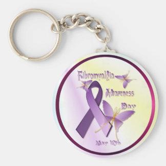 Porte-clés Porte - clé de jour de conscience de fibromyalgie