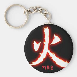 Porte-clés Porte - clé de kanji du feu