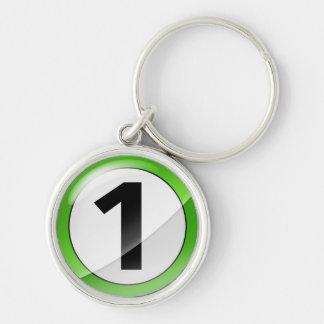 Porte-clés Porte - clé de la meilleure qualité vert du numéro