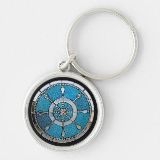 Porte-clés Porte - clé de la roue du bateau ou en verre