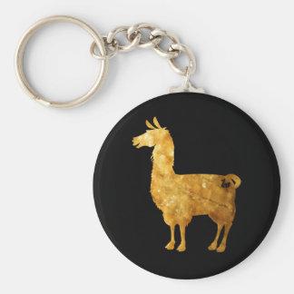 Porte-clés Porte - clé de lama d'or