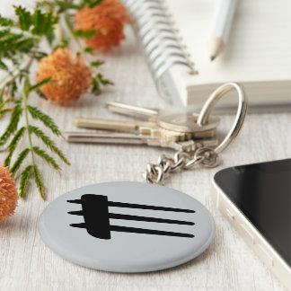 Porte-clés Porte - clé de liston de côté de courant