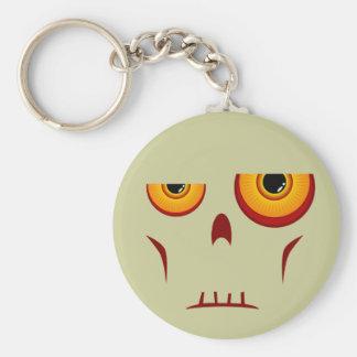 Porte-clés Porte - clé de long visage de zombi