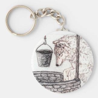 Porte-clés Porte - clé de loup le puits