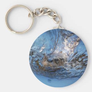 Porte-clés Porte - clé de loutre de natation