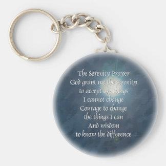 Porte-clés Porte - clé de lune de prière de sérénité