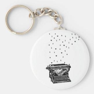 Porte-clés Porte - clé de machine à écrire