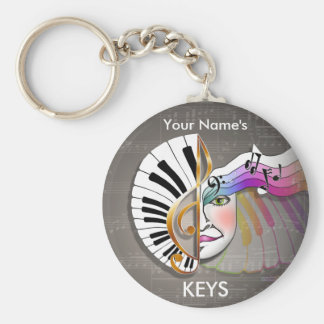 Porte-clés PORTE - CLÉ de masque de musique