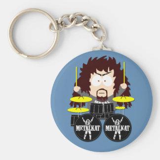 Porte-clés Porte - clé de Mick de batteur de Metalkat