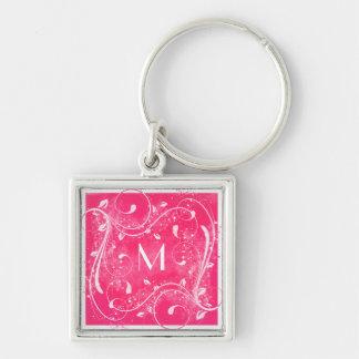 Porte-clés Porte - clé de monogramme de remous de rose et de