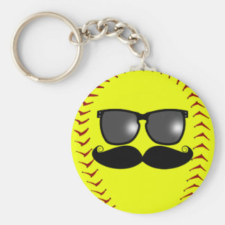 Porte-clés Porte - clé de moustache du base-ball de Fastpitch