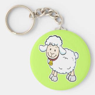 Porte-clés Porte - clé de moutons blancs