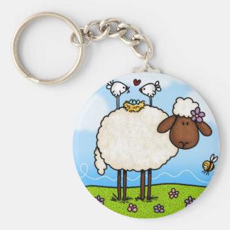 Porte-clés porte - clé de moutons de ressort