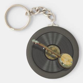 Porte-clés Porte - clé de musique de banjo