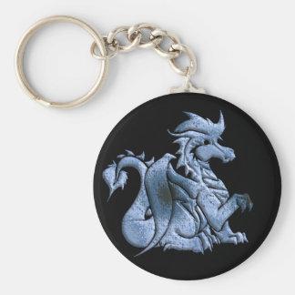 Porte-clés Porte - clé de noir de dragon à ailes par bleu