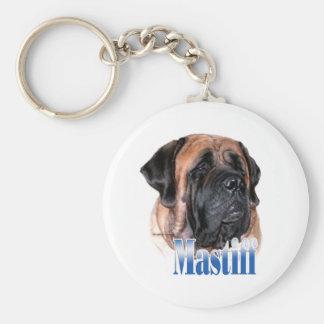 Porte-clés Porte - clé de nom de mastiff d'abricot