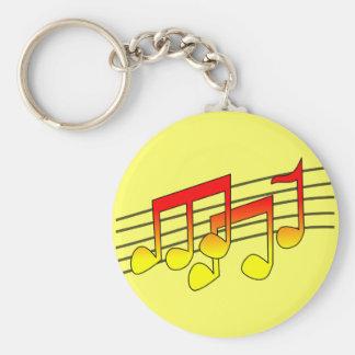 Porte-clés porte - clé de notes musicales